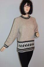 Vintage VTG Strick PULLI Norweger Pullover Knit JumperSweater WOLLE STRICKPULLI