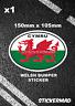 Galles Dragone Ovale Bandiera Auto Paraurti Id Adesivo Galles/Roulotte Camper VW