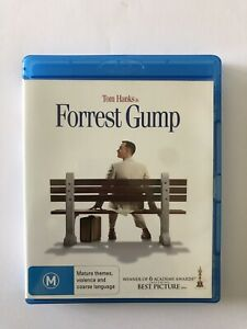 Forrest Gump Blu-ray VGC Tom Hanks Region B Movie Rated M 6xAcademy Winner