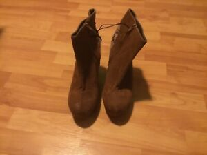 1x damen boots wedges braun gr.40 neu von primark