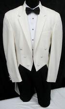 """Boys Ivory Off-White """"Hudson"""" Tuxedo Tailcoat Wedding Ringbearer Dance 4B"""