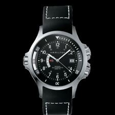 HAMILTON Men's Khaki Navy GMT Automatic 42mm Rubber Strap Watch H77615333