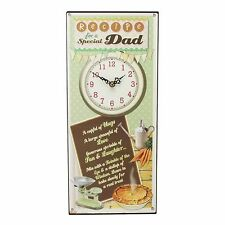 Recipe for a Special Dad ~ Fathers Day Gift ~ Quartz Wall Clock W9707