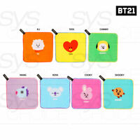 BTS BT21 Official Authentic Goods Hand Towel 220x220mm + Tracking Number
