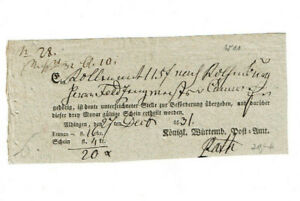 Historischer Postschein 1831 Aldingen Dokument