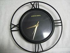 Preferred Stock Fragrance Wrought Iron Frame Ouartz Wall Clock Black & Gold