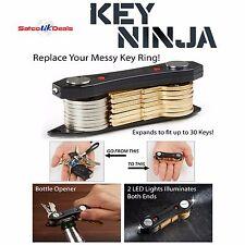 Smart key holder ninja compact porte-clés organisateur led torche ouvre-bouteille