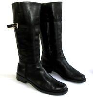 PRADA - Bottes cavalières tout cuir noir 39 Italien TRES BON ETAT