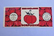 ancienne étiquette boite conserve tomate Sonpoidor Vaucluse