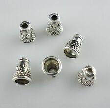 40pcs Tibetan Silver Horn-shaped End Bead Caps for Jewelry Findings 5.5x7.5mm