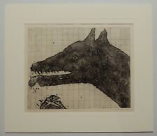 "ORIGINAL ART PRINT - INTAGLIO (COPPER) - ""WOLF"" - CROATIAN SERB? ARTIST - 1997"