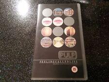 Pulp F.e.e.l.i.n.g.c.a.l.l.e.d.l.i.v.e VHS tape 1996