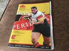 Pertemps Bees v Earth Titans RU programme 12/11/2005