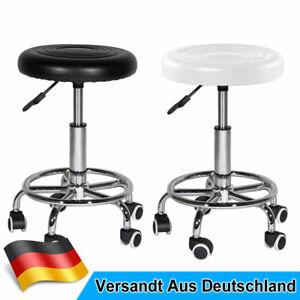 Rollhocker Arbeitsstuhl Drehhocker 360° frei drehbar mit Rollen Höhenverstellbar