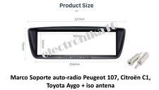 Marco montaje  auto-radio Peugeot 107, Citroën C1, Toyota Aygo + iso antena