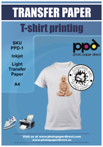 PPD A4 T Shirt Transfer Paper X 10 Sheets Only £6.89 Free P&P