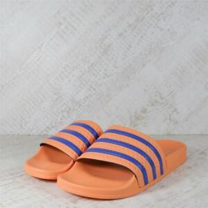 Mens Adidas Adilette Amber Tint/Blue Slides (15C09) RRP £29.99 BIG SIZES!!!