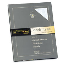 """""""Parchment Specialty Paper, Blue, 24 lbs 8-1/2 x 11, 100/Box"""""""