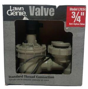 "Lawn Genie L7034 3/4"" Anti-Siphon Valve New"