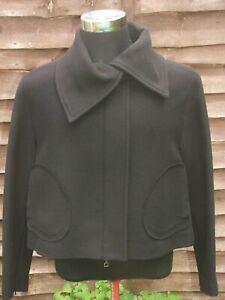 Italian designer Sarah  Pacini Cropped Winter Wool Mix Jacket Italy Size 0 UK XS