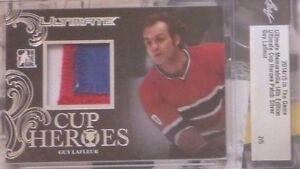 Guy Lafleur 2014-15 ITG Ultimate Memorabilia Cup Heroes 3C PATCH /5 Canadiens
