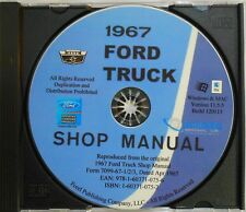 1967 FORD F-SERIES TRUCKS F100 F150 F250 F350 F800 SHOP SERVICE MANUAL ON CD
