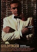 James Bond Goldfinger Vintage British Import Movie Poster 24 X 34