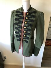 Free People Structured Blazer Military Jacket Coat Green