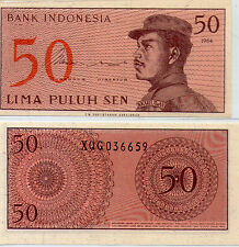 """Indonesia 50 cent  UNC 1964 """"X"""" Replacement Banknote Rupiah"""