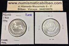 MEXICO 1 PESO 1994 CHAAC MOOL PLATA 1/4 ONZA Oz OUNCE Silver Unze Mexiko Mejico