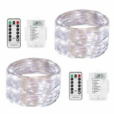 2x 5m 50 LED Fairy String Lights Starry Rope Copper Wire Lights Battery Operated
