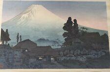 "Mt.Fuji, lord,beauty:Japanese woodblock print original 10x15"""