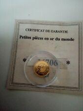 Petite Pièce En Or 999/1000 Napoléon