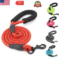 Dog Pet Leash Strap Comfortable Padded Handle Threads Collar for Large Dogs Lead
