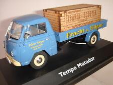 TEMPO MATADOR FRACHT u. EILGUT  PRITSCHE MIT TRANSPORTKISTE SCHUCO 1/43  REF3323