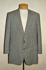 $1895 Ravazzolo 42R Blue, Camel & Ivory Micro Check Virgin Wool Sport Coat