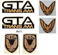 Trans Am GTA  Emblem Kit - BLACK  (6 piece Kit ) - 1991-92