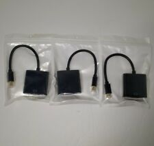 3 MiniDP to VGA Cable Mini DisplayPort to VGA Male to Female Converter
