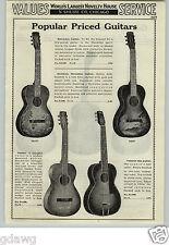 1933 PAPER AD Hawaiian Decoration Guitar Halekala Patrician Model Cremona Arched