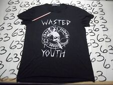 Medium- Damaged/Women's Wasted Youth Chaos Records Evil Twin Brand T- Shirt