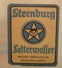 OLD GERMAN SOFT DRINK CORDIAL LABEL, STERNBURG BRAUEREI LEIPZIG GERMANY, WATER