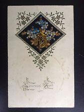 CP ancienne carte postale soie brodée Embroidered silk Fantaisie