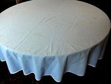 Nappe ronde diamètre 160 cm en voile de coton ganse blanche