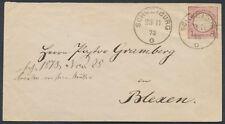 Dt. Reich Schild Ganzsachenausschnitt Schweiburg Blexen 1873 Befund (S15285)