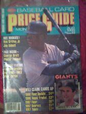 SCD Baseball Card Price Guide August 1989 Ken Griffey Jr.