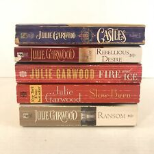 Lot Of 5 Julie Garwood Books Rebellious Desire Castles Ransom Fire Ice Slow Burn