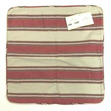 "NEW Pottery Barn Veranda Stripe Pillow Cover Cube Square 20""x20"" Slipcover Case"