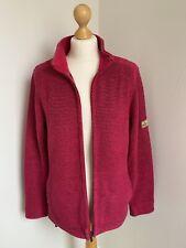 Weird Fish Women's Macaroni Jacket Deep Pink Full Zip Up Size UK Large VGC