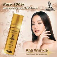 Strong Hyaluronic Acid Serum Anti Wrinkle Face Cream Gel Moisturiser Pure 100%