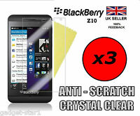 3x HQ CLEAR SCREEN PROTECTOR COVER LCD GUARD FILM FOR BLACKBERRY Z10 BB 10